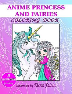 Items Similar To Coloring Book The Anime Princess And Fairies On Etsy