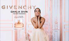 Dahlia Divin Eau de Toilette Givenchy / floral fruity / 2015 / Francois Demachy and Michel Almairac. Top notes: blood orange, Peach, black currant; heart notes: Jasmine, rose; base notes: Sandalwood, Musk, Vanilla, patchouli.