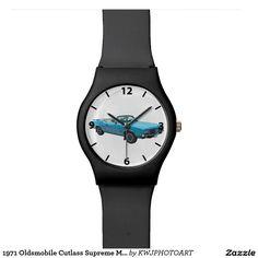 1971 Oldsmobile Cutlass Supreme Classic Muscle Car Wrist Watch. Customize It.100% Guarantee.....