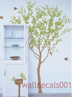 Vinyl tree wall decals wall stickers tree kids by NatureWall