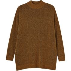 Monki Rosa knitted top (30.315 CRC) ❤ liked on Polyvore featuring tops, sweaters, jumpers, shirts, mustard yellow, monki, mustard yellow shirt, brown turtleneck sweater, turtle neck tops and brown sweater