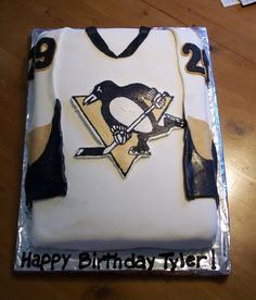 FBCT logo everything else fondant Pittsburgh Penguins Hockey Cake Hockey Birthday, My Birthday Cake, 8th Birthday, Cake Pictures, Cake Pics, Pittsburgh Penguins Logo, Hockey Cakes, Cupcake Boutique, Penguin Cakes