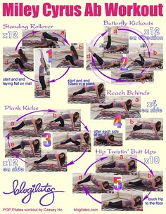 Miley Cyrus Ab Workout