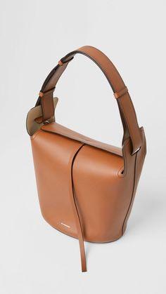 8ad1fec62462 Сумка Bucket из кожи, средний размер (Рыжевато-коричневый) - Для женщин