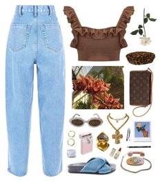 """""""Grace"""" by ninaaaquino ❤ liked on Polyvore featuring Mochi, Topshop, Moschino, Christian Lacroix, Yves Saint Laurent, Louis Vuitton, Ralph Lauren Collection, Crosley, Givenchy and H&M"""