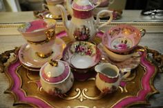 old china in pink