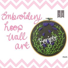 Embroidery Hoop Wall Art - Create 28 – I Did It! at www.elistonbutton.com - Eliston Button - That Crafty Kid