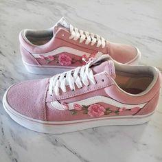 more photos 1927b 5110e Pink Pink RoseBuds Custom Vans Old-Skool Sneakers -  custom  rosebuds