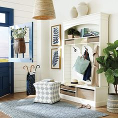 Kitchen Keeping Room, Umbrella Holder, Trellis Design, Sofa Styling, Leaf Art, Ballard Designs, Hanging Baskets, Southern Living, Storage Baskets