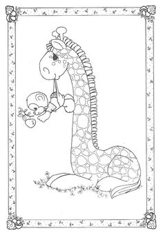 precious moments animals coloring pages bing images - Coloring Page Monkey