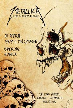 Metallica poster by wagnerschaider on DeviantArt