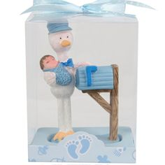 Stork Delivering Baby Boy Favor - Baby Shower Favors - Baby Favors and Things