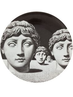 Women - Fornasetti Bust Print Plate - L'Eclaireur Shop