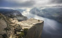 Giant cliff Pulpit in Norway