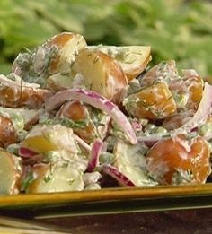 Recipe for Country Potato Salad - Looking for a tasty, low calorie potato salad recipe to make for a Memorial Day BBQ this year? This!