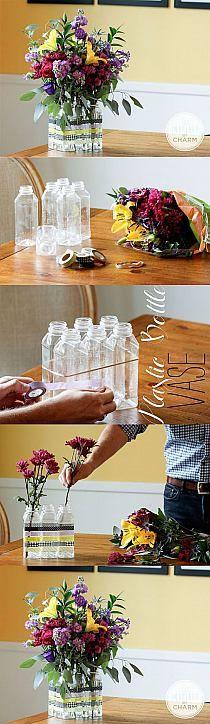 Washi Tape Vase #fabulouslifeinc