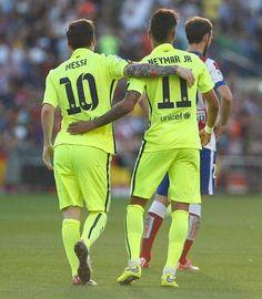 Messi and Neymar - La Liga Champions