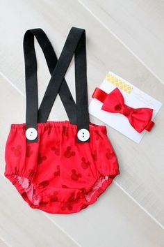 Mickey Mouse Cake Smash Outfit First by CrestlineCreatives on Etsy, $29.99