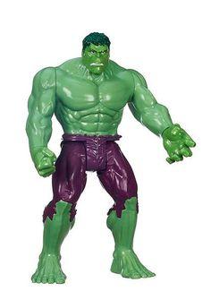 Figura Hulk, 30cm. Los Vengadores: La Era de Ultrón. Serie Titan Hasbro Estupenda figura de 30cm del super héroe Hulk basado en la serie Titan de Hasbro.