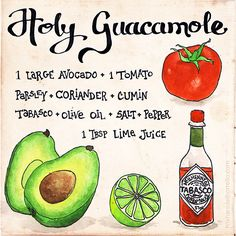 Simple guacamole recipe from the talented @picturette
