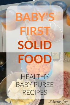 My pediatrician recommended these homemade Healthy Baby Puree Recipes. This is a great way to introduce Baby's first solid foods