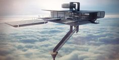 Oblivion Sky Tower/ 3d Render Day