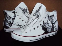 A one -off pair of Chuck Taylor Converse, drawn with waterproof markers by Mitchell Vincent Schuurman who intends to wear them. Dali I am sure would appreciate the tribute www.facebook.com/mitchellvincentschuurman