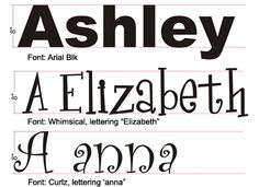 Letters in all kinds of fonts and sizes from this website - Fun!