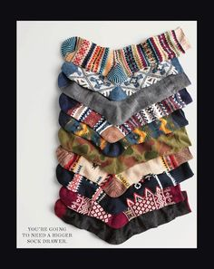 You're going to need a bigger sock drawer