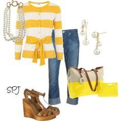 Yellow Stripe Sweater :) by nicole