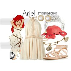 Ariel by leslieakay on Polyvore featuring Jay Ahr, Dorothy Perkins, Betsey Johnson, West Coast Jewelry, Alex and Ani, Talbots, disney, disneybound and disneycharacter