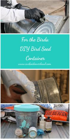 Spring is just around the corner. To celebrate the returning of our bird friends, we made this DIY bird seed container to store and keep our bird seed.