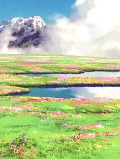 Howl's moving castle landscapes PS favorite scene in the WHOLE MOVIE