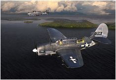 """VMSB-244 Bombing Banshees by Jack Fellows Marine Scout-Bombing Squadron 244 (VMSB-244), calling themselves the """"Bombing Banshees"""" was the f..."""