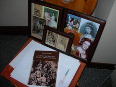 La prima edizione del mio libro dedicato a Sissi accanto ad alcune foto d'epoca.