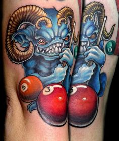 15+ Striking Pool Tattoo Design Ideas