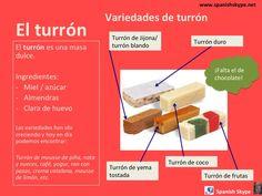 El turrón, el dulce más típico de la Navidad en España.