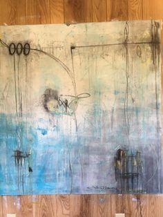 Nourish Blue - mixed media 48x48