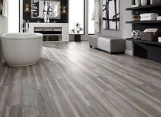 Find And Save Ideas About Waterproof Laminate Flooring On intended for Bathroom Flooring Ideas Laminate - Best Home & Party Decoration Ideas Grey Vinyl Plank Flooring, Luxury Vinyl Flooring, Luxury Vinyl Plank, Vinyl Planks, Waterproof Bathroom Flooring, Waterproof Laminate Flooring, Hardwood Floor Colors, Grey Hardwood Floors, Flooring Options
