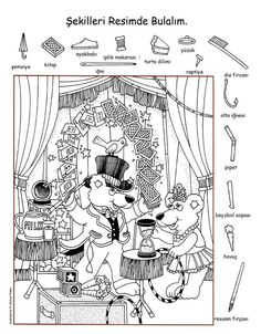 english lessons for kids teaching Hidden Picture Games, Hidden Picture Puzzles, Learning English For Kids, English Lessons For Kids, French Lessons, Art Activities For Kids, Teaching Activities, Kindergarten Learning, Highlights Hidden Pictures
