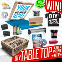 Table Top DIY Screenprinting Kit Giveaway from DIY Print Shop