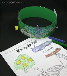 Activity for ages 3 to 6. This science project and art activity in one is a memorable way to help kids learn about the four stages of the butterfly life cycle: egg, caterpillar, chrysalis and (the most exciting of all!) butterfly. It's a perfect addition to a life cycle unit, spring science activity or homeschool project. This …
