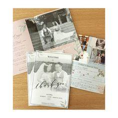 """* プロフィールブック8Pフルオーダー 先日投稿したものの表紙とグリーティングページ。 """"Thank you""""がテーマとのことで、中身も二人の感謝の気持ちがとても詰まった内容でした  #paperitem #wedding#席札#結婚式準備#招待状#プロフィールブック#ペーパーアイテム#invitation#結婚式#席札#テーブルコーディネート#プレ花嫁#ウェルカムボード#findyourseat#エスコートカード#結婚式DIY"""