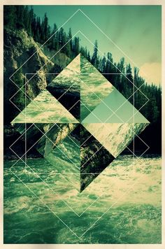 The use of geometry on a picture with a lot of noise gives the photo a whole new design. Photoshop was used to render the images in each section. Design Graphique, Art Graphique, Geometric Designs, Geometric Shapes, Geometric Nature, Geometric Poster, Geometric Graphic, Geometric Wallpaper, Photoshop