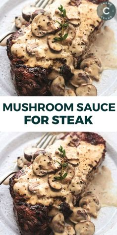 Garlic Sauce For Steak, Steak Sauce Recipes, Meat Recipes, Mexican Food Recipes, Creamy Steak Sauce, Cooking Recipes, Best Steak Sauce, Creamy Garlic Sauce, Steak And Mushrooms