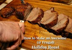 How to make a beef cross rib rost taste like prime rib - totally awesome roast on a budget
