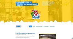 Ontwikkeling van een vrolijke responsive website met CMS. Dusty's Frietmobiel bakt met veel enthousiasme en plezier frietjes en snacks op uw evenement.   Dus heeft u binnenkort een feestje? Huur een frietkraam van Dusty's Frietmobiel via www.dustysfrietmobiel.be. Desktop Screenshot, Snacks, Website, Appetizers, Treats