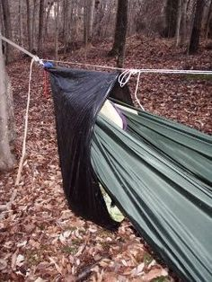 Just Jeff's Hammock Camping Page - DIY travel / camping hammock for your backpack, hike or BOB.