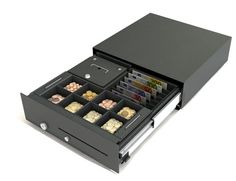 Cash Bases Slide Out Cash Drawer x x Epson inc 6 Note 8 Coin vertical tray Internal Note Skimming Mechanism Black Point Of Purchase, Drawers, Base, Note 8, Epson, Tray, Point Of Sale, Set Of Drawers, Trays