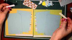 Разворот детского альбома - видео мастерской Handicraft